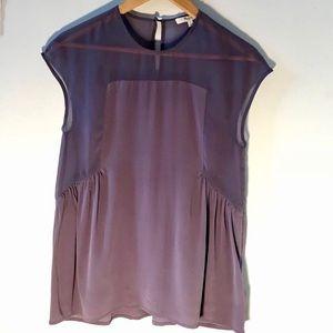 Madewell purple short sleeve blouse